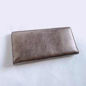 MBMJ metallic and taupe wallet